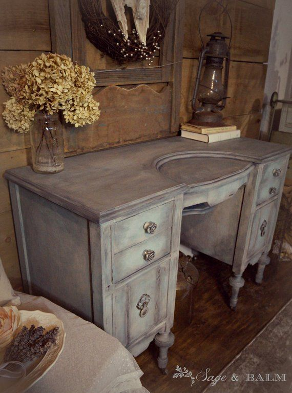 Sold Shabby Chic Blue Grey Gustavian Antique Vanity Desk Blue Dressing Table On Castors Antique Vanity Painted Distressed Furniture Blue Dressing Tables Distressed Furniture Antique Vanity