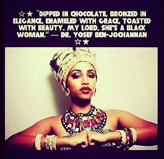 Empowering Blackness of a woman.