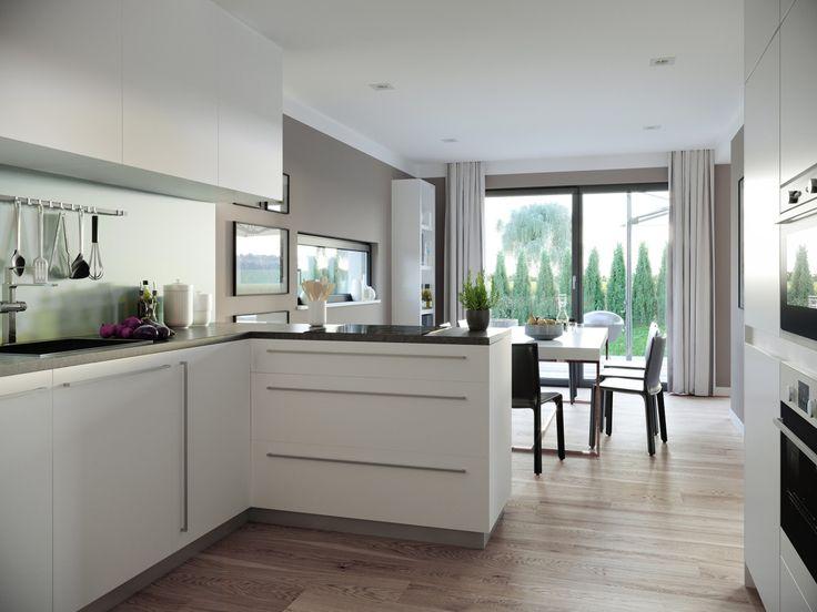 Offene Küche mit Theke und Kochinsel – Einrichtungsidee Haus Concept-M 198 Bien Zenker – HausbauDirekt.de