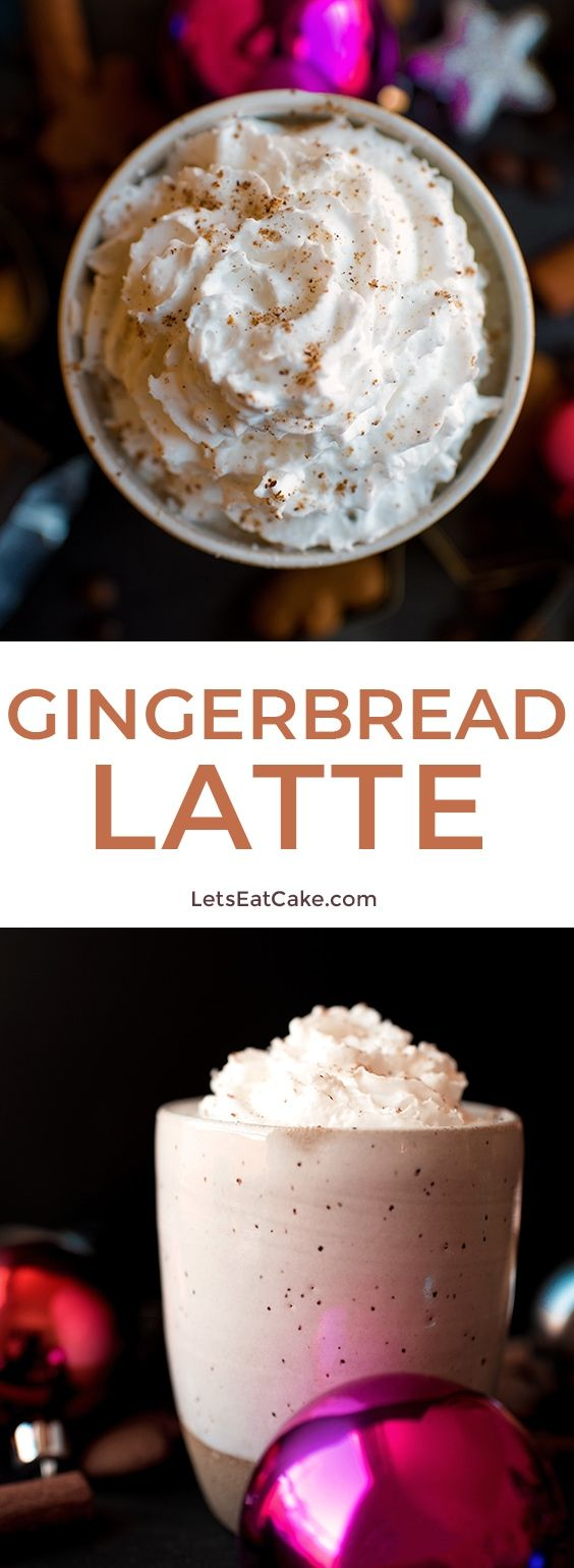 This Gingerbread Latte recipe is an easy drink recipe for the holiday season! The flavored latte is simple to make at home and perfect for enjoying on Christmas morning! #letseatcake #quickrecipe #gingerbreadlatte #gingerbreadrecipe #flavoredlatte #latterecipe #coffee #christmas #christmasmorning #tistheseason #food #starbucks #gingerbreadsyrup #espresso #syrup #foodrecipes #foodideas #fooddrink #yummyrecipes #deliciousfood #fooddrink #foodrecipes #starbuckscopycat #dessertrecipes #easyrecipes #