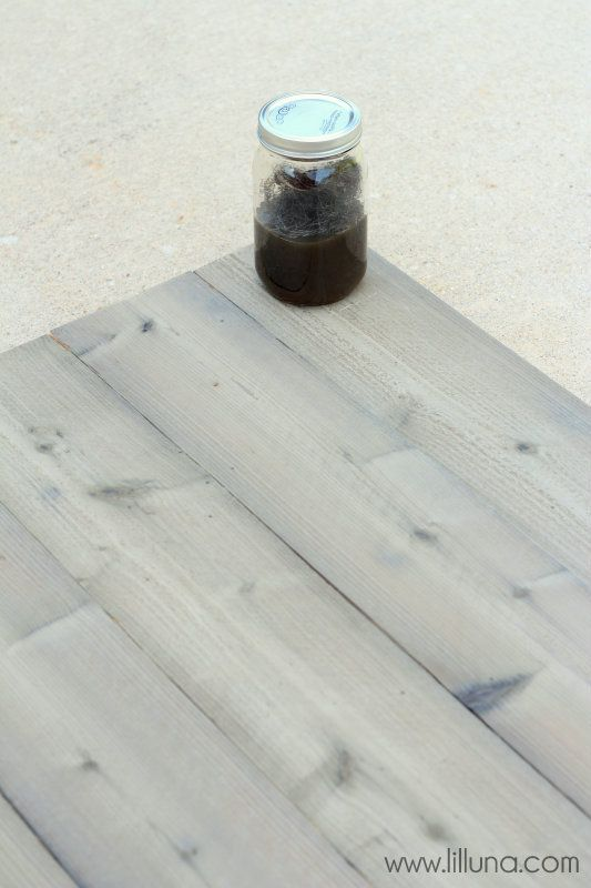 How to make wood look grey. Great for a beachy/coastal look