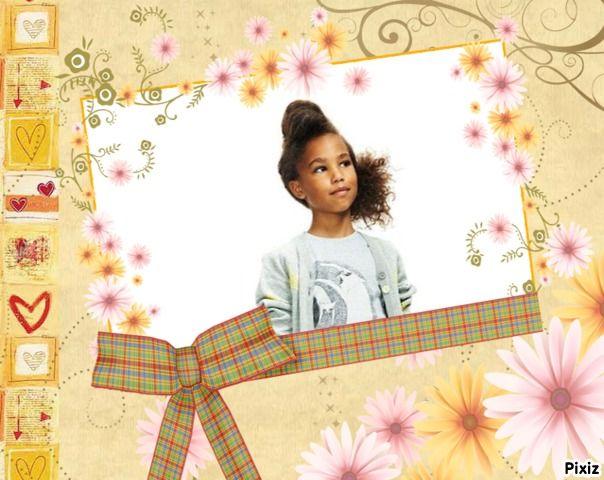 pixiz couverture album fleurs noeud cadre gratuit n 247 album montage pixiz pinterest. Black Bedroom Furniture Sets. Home Design Ideas