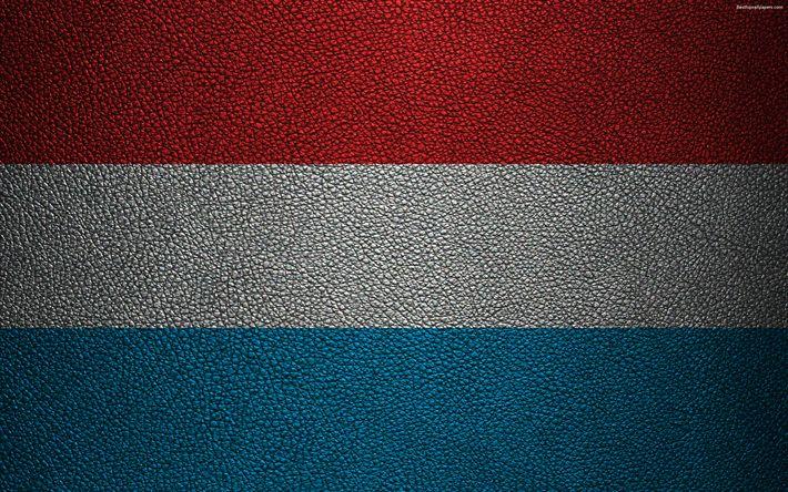 Herunterladen hintergrundbild flag of luxembourg, 4k, leather texturen, luxembourg flag, europe, flags of europe, luxembourg