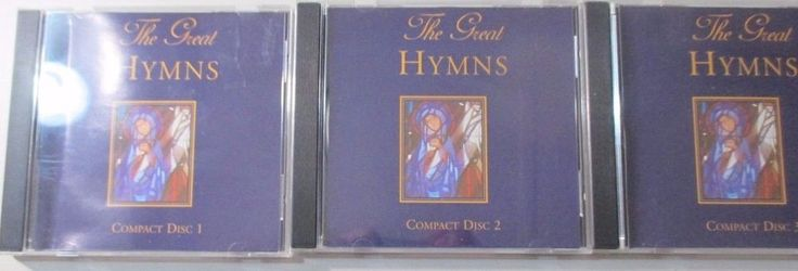 THE GREAT HYMNS 3 CD'S 1 CD OF FAVORITE HYMNS 2 CDS THE SIR PHILLIPS BOY'S CHOIR #Christian