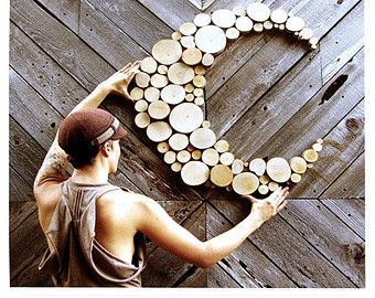 Articles similaires à Régénéré décor bois lune Sculpture mariage sculpture de tranche Repurposed de bois recyclé arbre tranche forme abstraite forme libre sur Etsy