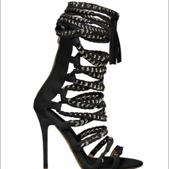 1000  ideas about Black Lace Up Heels on Pinterest  Lace up heels