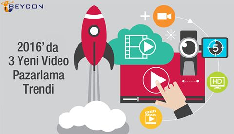 2016'da ses getiren 3 video pazarlama trendi 1-2020 yılına gelindiğinde video içerikleri, internet ortamında yüzde 80 oranına ulaşacak. Bu sayı 2010 yılındaki verilerden yüzde 64 daha fazla 2-Eğitim kurumlarının büyük çoğunluğu (yaklaşık yüzde 66'sı) öğrenci çekebilmek için videolarla tanıtım yapacak. 3-Reklam pazarına yapılan yatırımların yarısı televizyon ortamından dijital ortama geçecek.  #Beycon #video #pazarlamatrendleri
