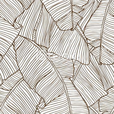 Vector illustration leaves of palm tree. Seamless pattern. Royalty Free Stock Vector Art Illustration