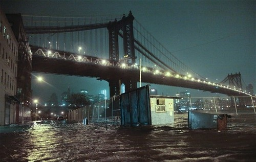 Some photos in New York from the impact of Hurricane Sandy.