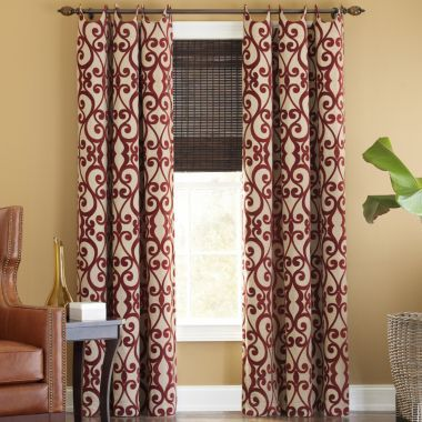 red dining room curtains. palais grommet-top curtains - jcpenny in soft ivory or the red dining room r
