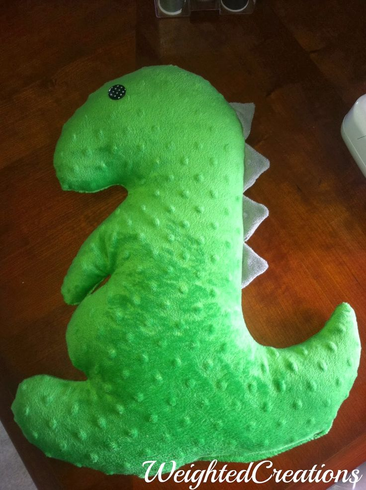 Weighted Creations- dinosaur lap pad for SPD, autism, ADHD, etc. Repinned by Apraxia Kids Learning. Come join us on Facebook at Apraxia Kids Learning Activities and Support- Parent Led Group.