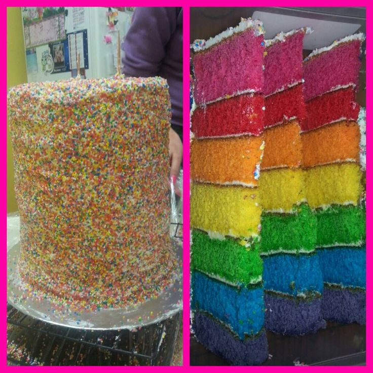 Rainbow Sprinkle Cake for 6th Birthday