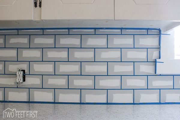 Do you like the look of subway tile? I do and I really wanted to have that look as my kitchen backsplash. But as always I am trying to save money, especially after redoing our main line… But …
