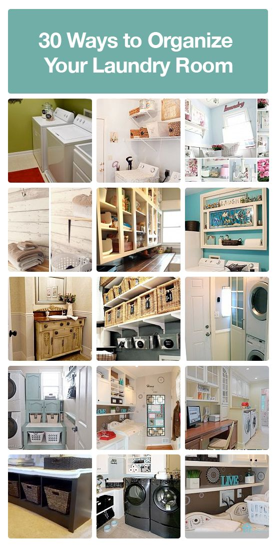 30 ways to organize your laundry room.