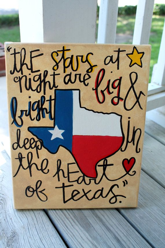 Deep in the Heart of Texas by colorsoncanvas, $35.00