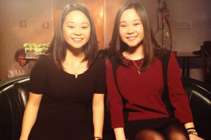 """Samantha Futerman and Anais Bordier (right).  """" Identical Twins Who Were Separated at Birth Recall the Amazing Story of How They Found Each Other.."""""""