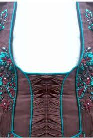 handmade kameez neck design - Google Search
