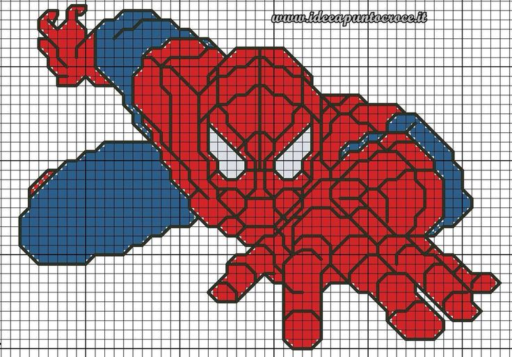 Súper Hero cross stitch 3-17