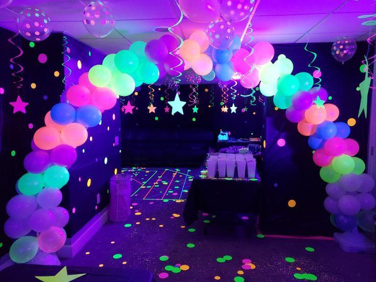Neon Glow In The Dark Party Kindergeburtstag Glow Birthday