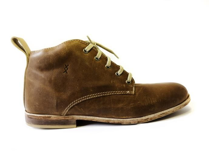 100% handmade leather men's shoes Mid-top - Toffee colour  SIXKINGS Viking range