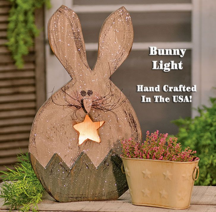KP Creek Gifts - Bunny in Egg Lighted Box