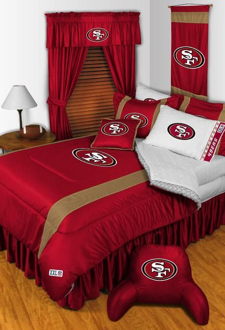 San Francisco 49ERs NFL Sidelines Bedding - this is how my sons room will be one day if i ever have a boy lol