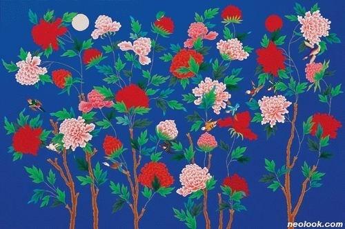 홍지연, Symptom (캔버스에 아크릴 채색 193x130cm, 2006)