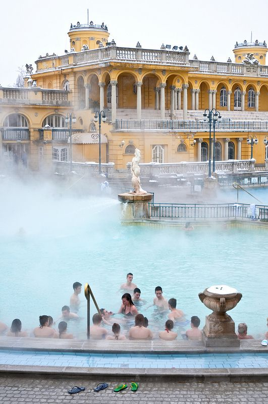 One of the lasting remnants of Turkish influence in Hungary, Budapest's baths that are heated by natural thermal springs.