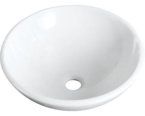 Aufsatzwaschtisch basano Forli 42 cm Glass-Stone weiß, 99,90€