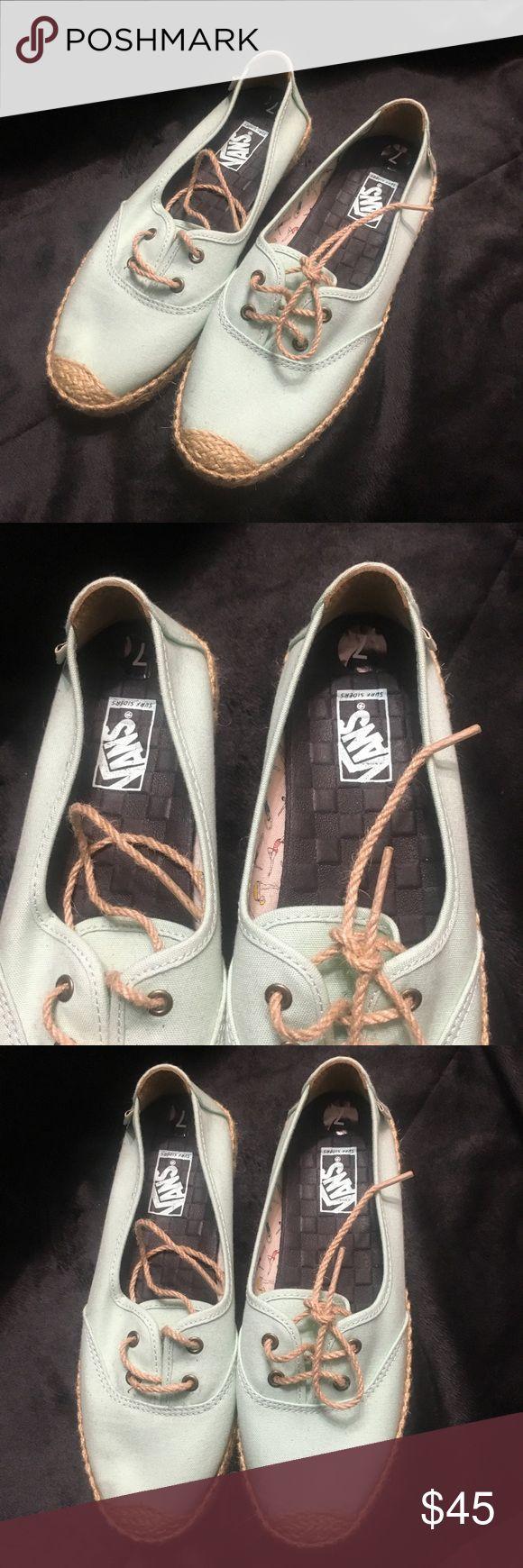 NWOT Teal Vans NWOT Teak Vans. Such a cute shoe! Vans Shoes