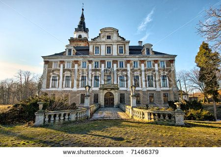abandoned mansions for sale | Old Abandoned Mansion During The Evening Stock Photo 71466379 ...