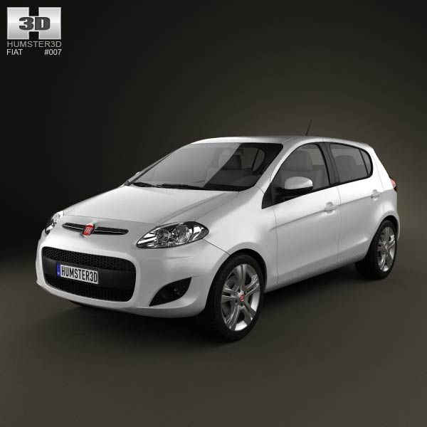 Fiat Palio 2012 3d model from humster3d.com. Price: $75