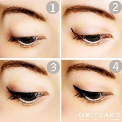 Ini dia tutorialnyaaa... cara bikin efek Winged Eyeliner.. gampang kok, ngak pake ribet :D