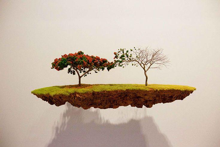 Sculpturi ingenioase sub formă de insule izolate plutitoare