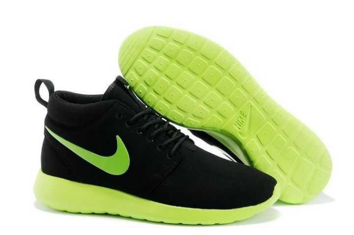 Black Friday - Nike Roshe Run Mid Mens Black Volt