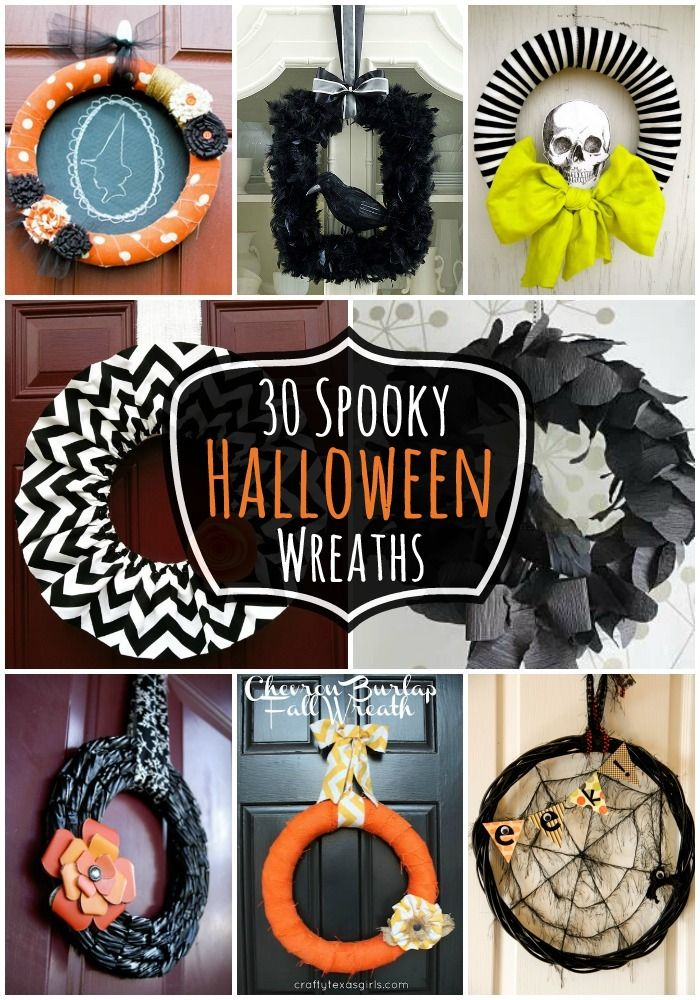 30 Spooky #Halloween Wreaths