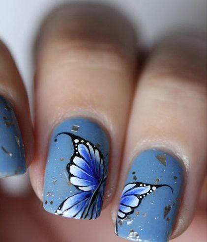azzurro con farfalle blu