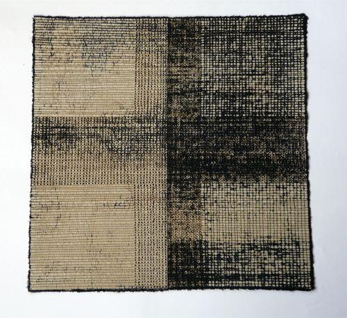 Diana Harrison, small pieces, silk, 35cm x 35cm, 2009.