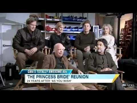 A Princess Bride reunion on Good Morning America from 2011...you might have seen this already, since it came out while I was gone.  But it still is amazing, like always!