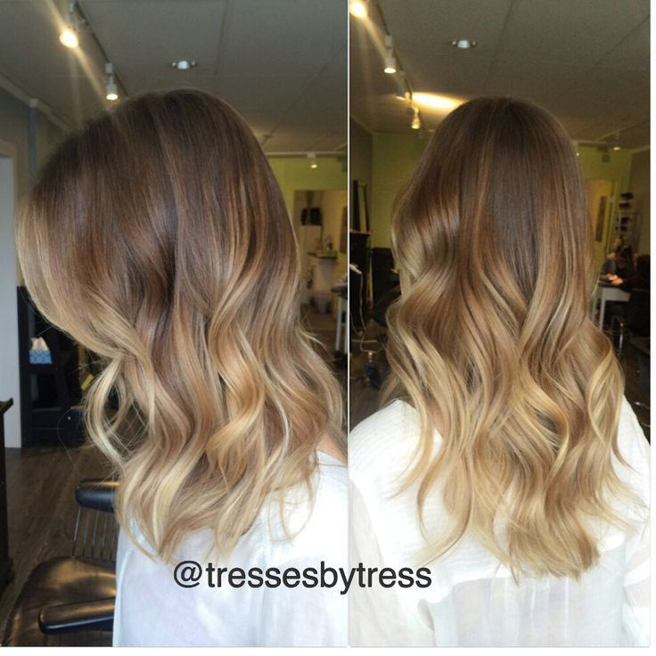 Honey Blonde Golden Blonde Balayaged Ombre Ombre
