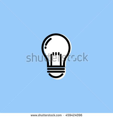 Light Bulb icon,  Vector illustration modern flat and line style