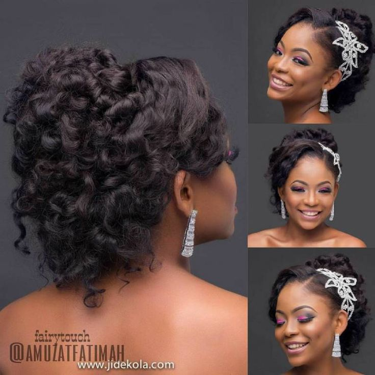 16 Gorgeous Wedding Hairstyles For Nigerian Brides By Hair: 13398569_145241112553149_1989500259_n