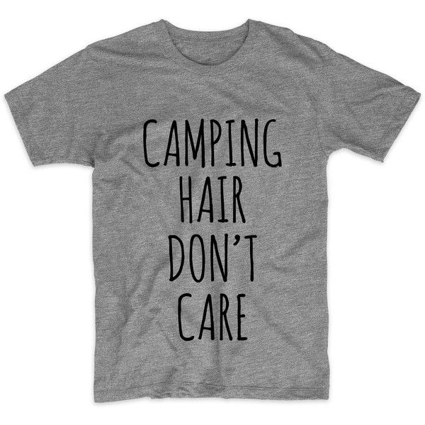 Camping Hair Don't Care, Graphic Tshirt For Men Women, Womens Graphic... ($16) ❤ liked on Polyvore featuring men's fashion, men's clothing, men's shirts, men's t-shirts, mens leopard print t shirt, mens print shirts, mens neon shirts, mens neon t shirts and mens metallic gold shirt