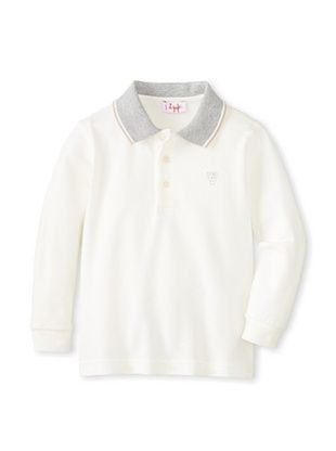 30% OFF Il Gufo Kid's Polo with Contrast Collar (White/Beige)
