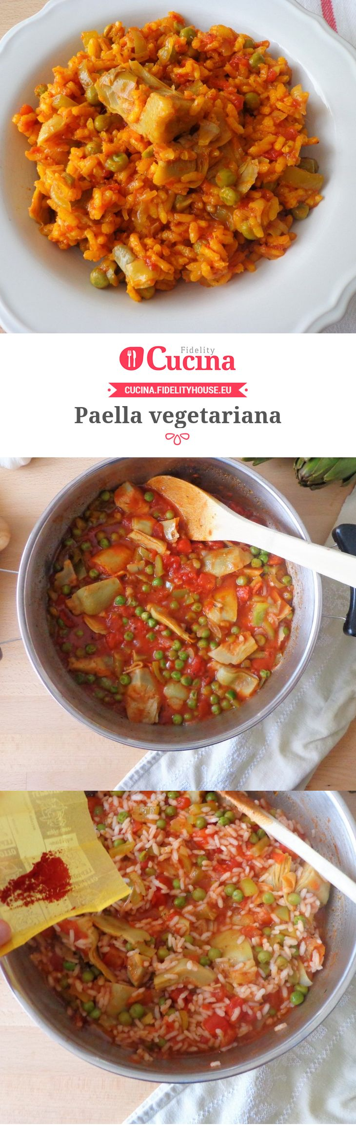 #Paella vegetariana della nostra utente Magdalena. Unisciti alla nostra Community ed invia le tue ricette!