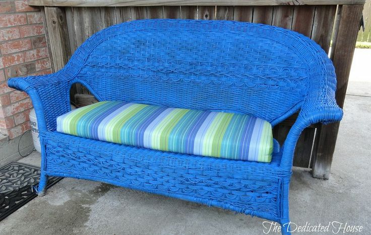 Compainted Outdoor Furniture : Painting Outdoor Furniture Got a bee in my bonnet and painted a wicker ...
