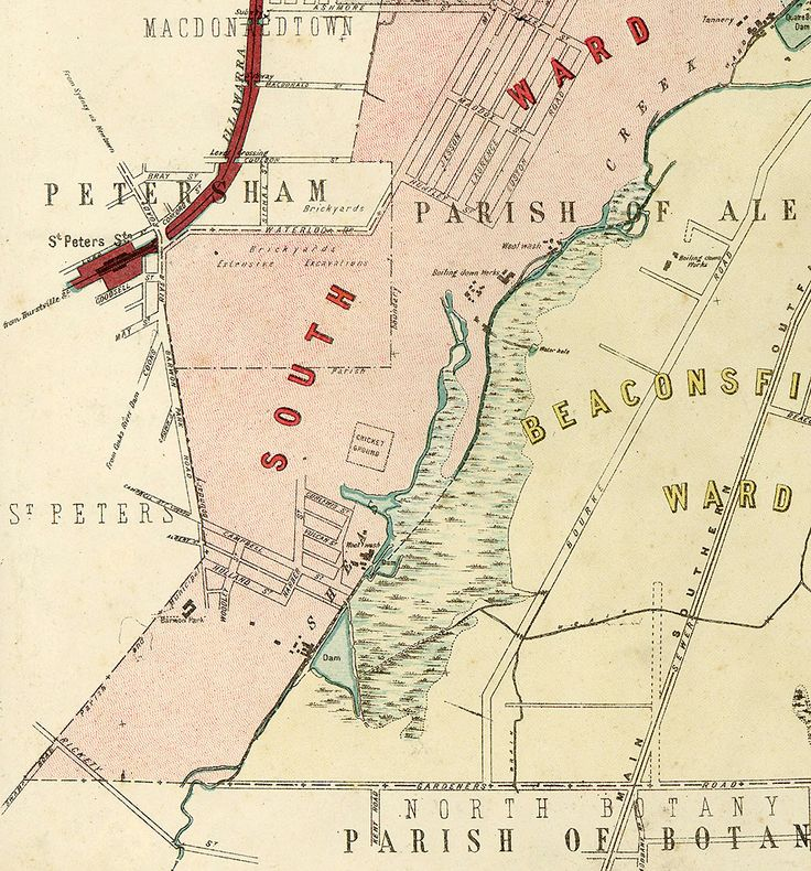 Map of St Peters brickpits and surrounds 1880s