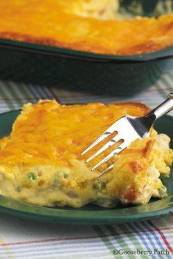 cornbread chicken pot pie...perfect for Winter.