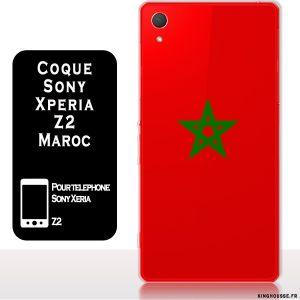 Coque pour Téléphone Sony Xperia Z2 : Drapeau Maroc. #housse #xperia #z2 #maroc #sony