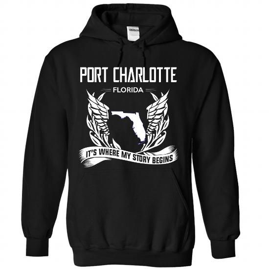 Port charlotte - Florida Its Where My Story Begins - #tshirt crafts #cowl neck hoodie. BEST BUY  => https://www.sunfrog.com/States/Port-charlotte--Florida-Its-Where-My-Story-Begins-3202-Black-Hoodie.html?60505